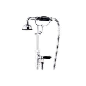 St James 18mm Diverter Valve with Hose & Handshower on Cradle - SJK680-LLBK